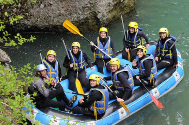 Séminaire descente rafting Evian les Bains