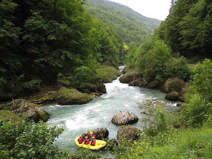 Rafting sur la Dranse entre Thonon et Morzine