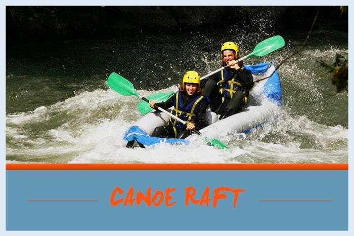 Vignette canoe raft
